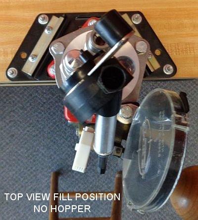 Turret Press Top view fill position no hopper