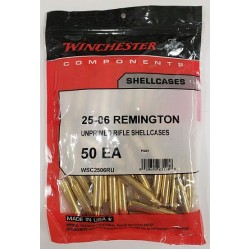 Winchester 25/06 Rem brass 50 ct