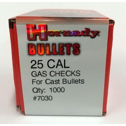 25 Cal Gas Checks, Hornady 1000