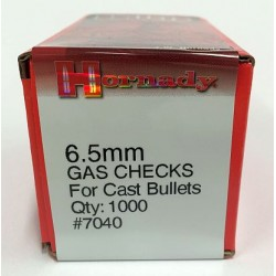 6.5mm Gas Checks, Hornady 1000