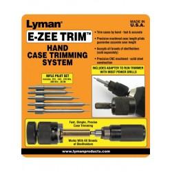 "Lyman ""E-ZEE Trim"" Hand Case Trimmer - Rifle Set"
