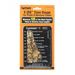 Lyman E-ZEE Case Gauge for Pistol and Revolver