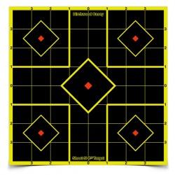 """Shoot•N•C® 8"""" Sight-In Target 15 Pack, 36 plasters"""