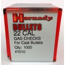 22 Cal Gas Checks, Hornady 1000