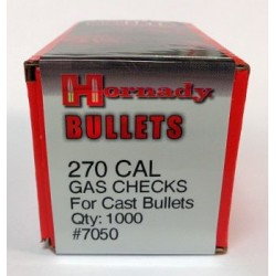 270 Cal Gas Checks, Hornady 1000