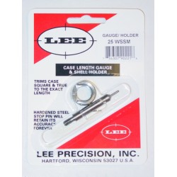 25 WSSM LEE CASE LENGTH GAUGE/SHELL HOLDER