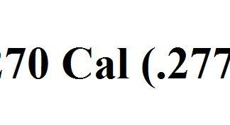 270 Caliber (.277)