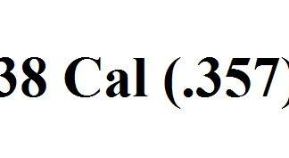 38 Cal (.357)